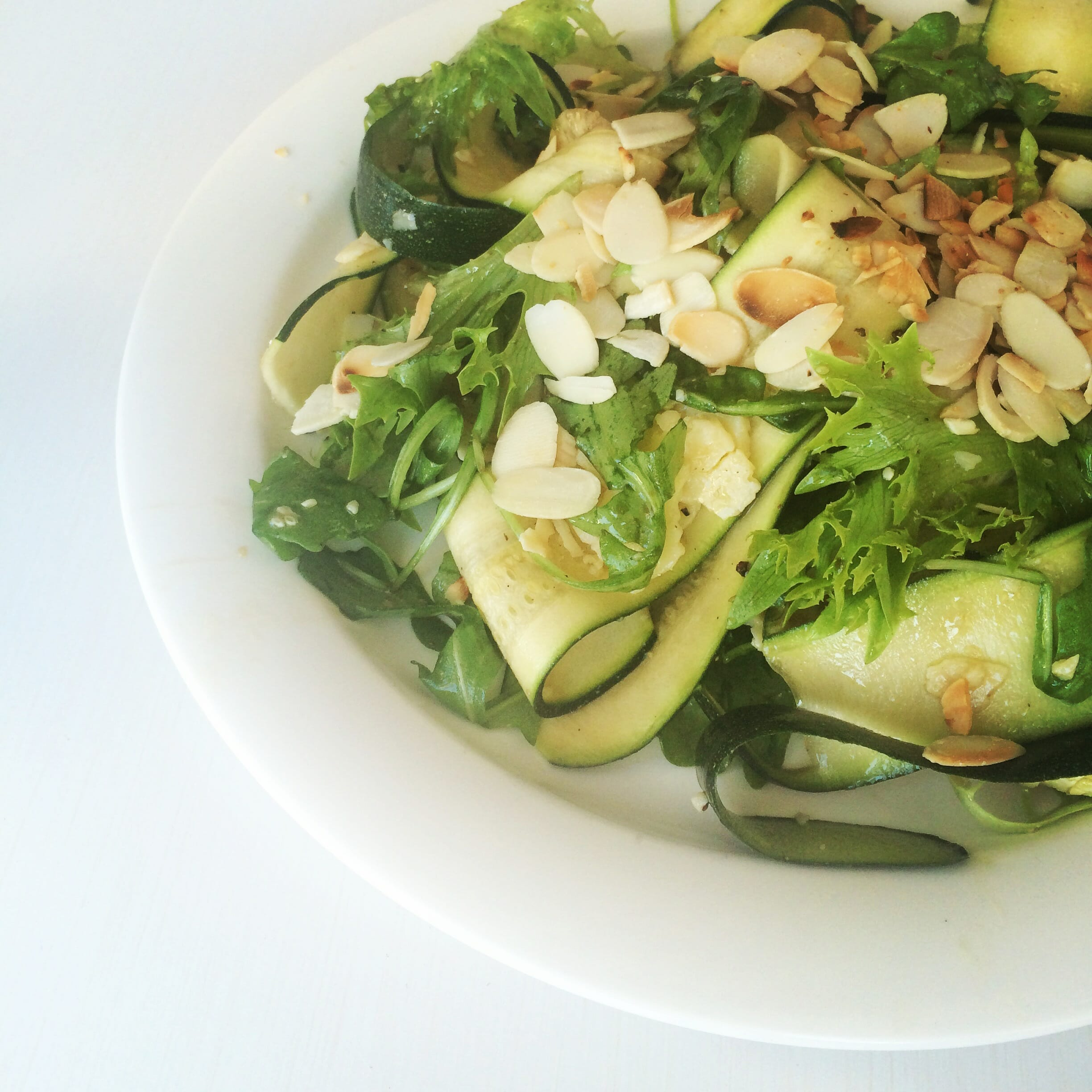 Courgette & Vasterbotten Cheese Salad