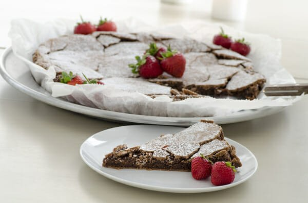 Swedish Sticky Chocolate Cake Kladdkaka Recipe