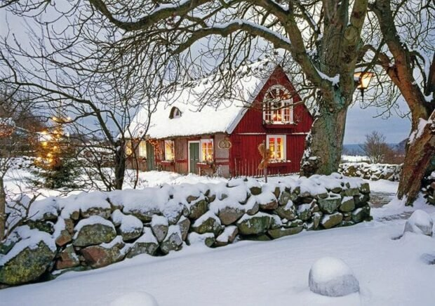 snow and winter Sweden