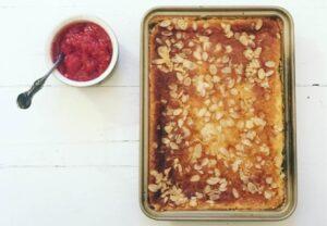 Swedish cheesecake ostkaka