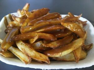 northern ey up chips and gravy