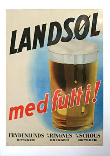 Norwegian beer advert
