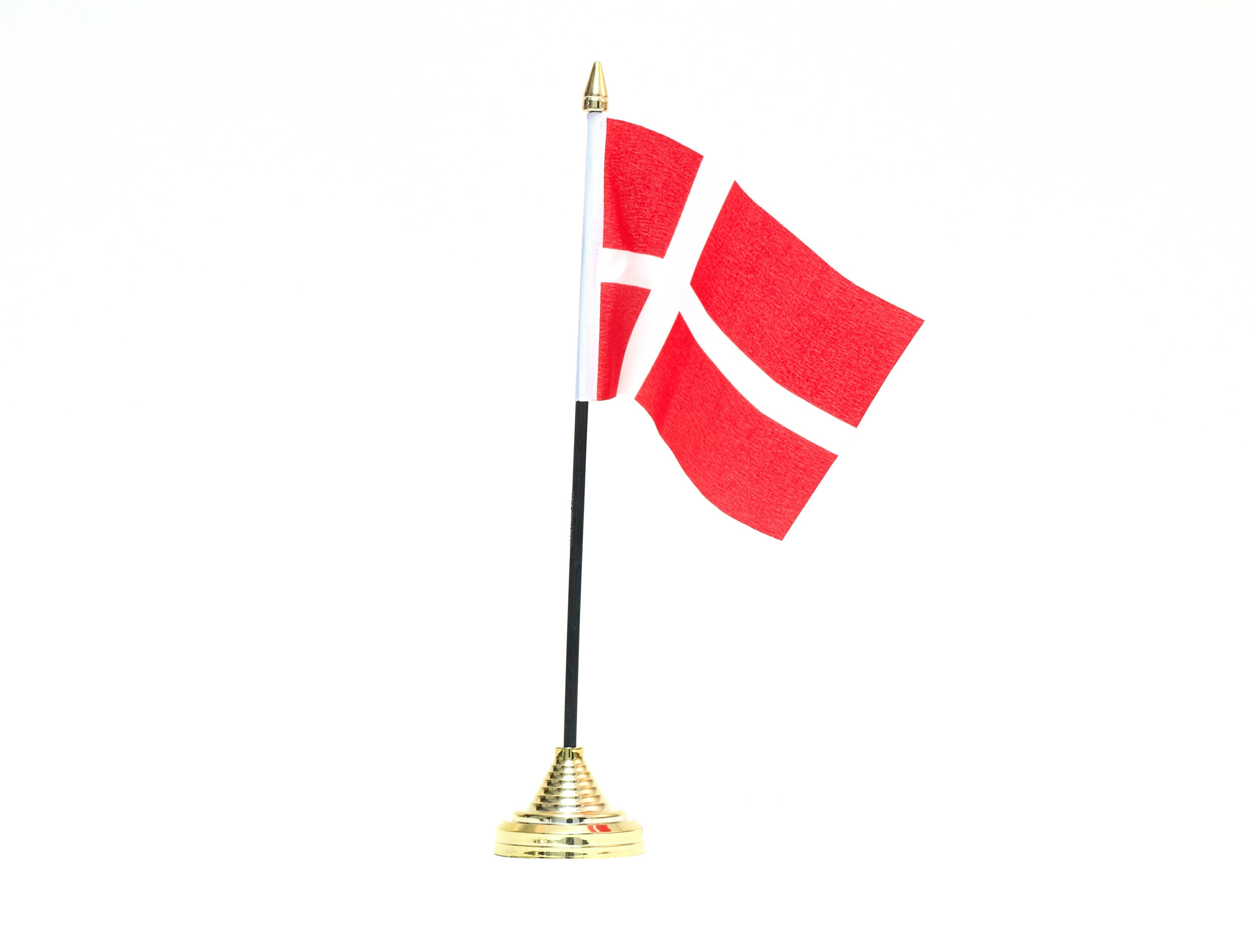 Small Table Flag Danish Flag 6 4 Inches 10x15cm No Base